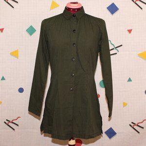 2224XZ olive green gingham long shirt